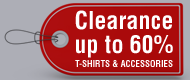 Clearance T-Shirts and Accessories